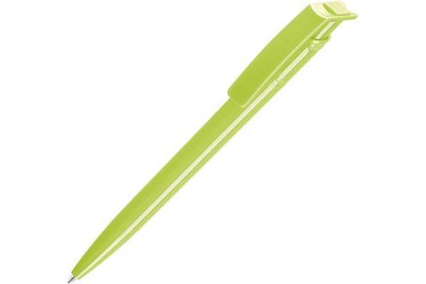 Ручка шариковая пластиковая RECYCLED PET PEN, синий, 1 мм, фисташковый