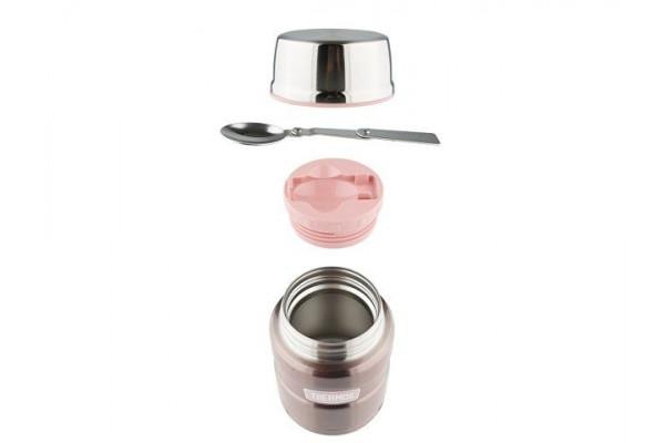 Термос из нерж. стали с ложкой тм THERMOS SK3021Р 0,7L, розовый