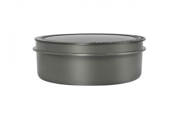 Термос из нерж.стали с пластиковыми контейнерами и ложкой тм THERMOS JBG-1800 Food Jar 1.8L, серый