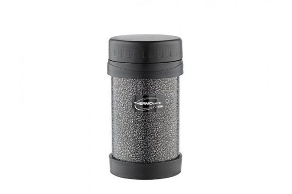 Термос из нерж. стали для еды тм ThermoCafe HAMJNL-500FJ Hammertone Coating, 0.5L, серый
