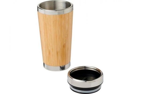 Стакан Bambus с бамбуковой наружной отделкой 450мл, коричневый