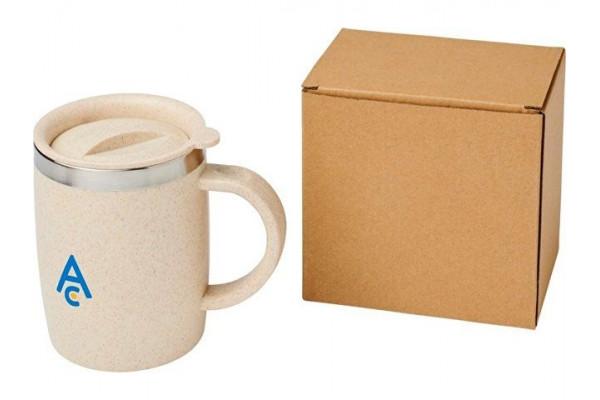 Чашка из пшеничной соломы Wey 400мл с изоляцией, натуральный