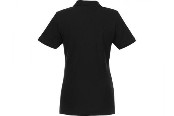 Женское Beryl поло из переработанных органических материалов с коротким рукавом, черный