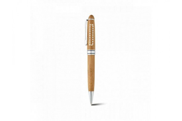 LUANDA. Набор роллера и шариковой ручки из бамбука, Натуральный