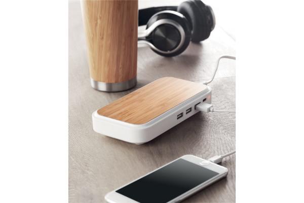 Беспроводная зарядка из бамбук