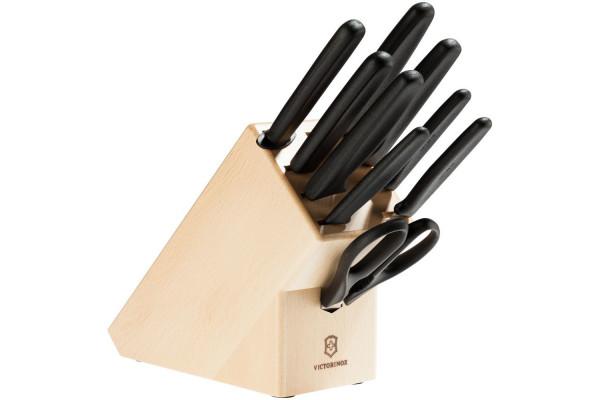 Набор ножей Victorinox Standart в деревянной подставке с ножницами