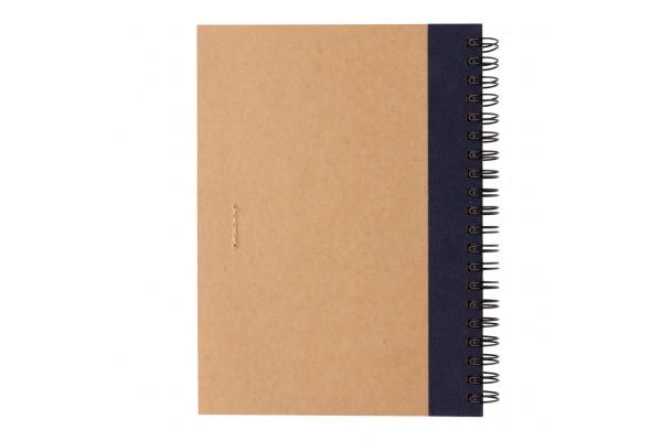 Блокнот на спирали Kraft с ручкой