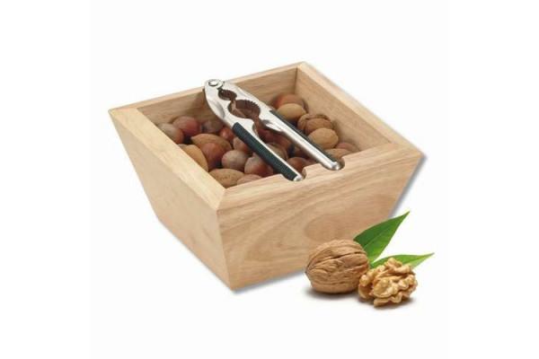 Щипцы для орехов с деревянной чашей