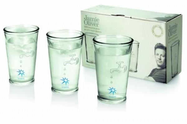 Набор стаканов из переработанного стекла (транспарентный)