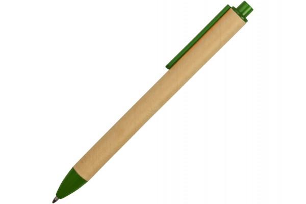 Ручка картонная шариковая Эко 2.0 зелёная
