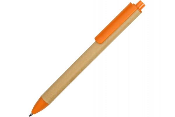Ручка картонная шариковая Эко 2.0 оранжевая
