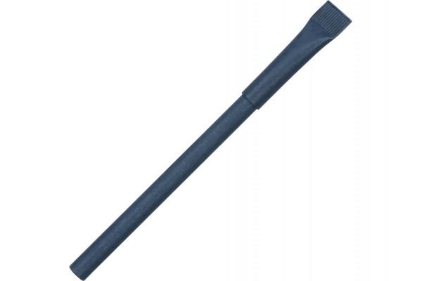 Ручка синий картон с колпачком Recycled