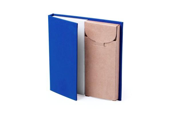 Набор LUMAR: листы для записи (60шт) и цветные карандаши (6шт), синий, картон, дерево