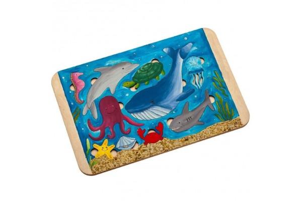 Пазл-раскраска Wood Games, морские жители