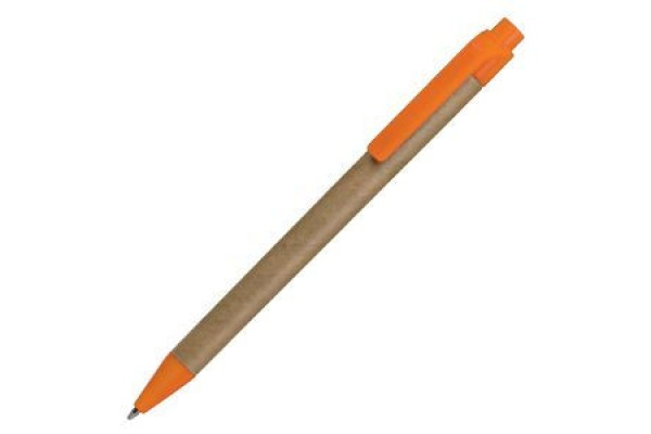 GREEN TOUCH, эко ручка шариковая, оранжевый, картон/пластик