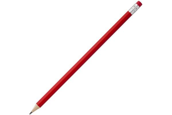 Карандаш Эко простой Hand Friend с ластиком, красный
