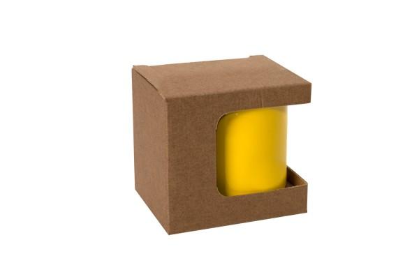 Коробка для кружек 25903, 27701, 27601, размер 11,8х9,0х10,8 см, микрогофрокартон, коричневый