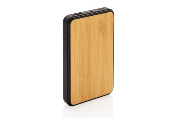Бамбуковый карманный внешний аккумулятор Fashion, 5000 mAh