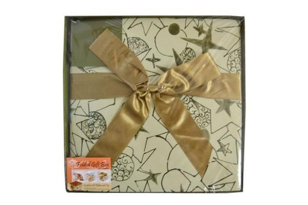 Коробка подарочная раскладная, 25*25*25 см, картон|1