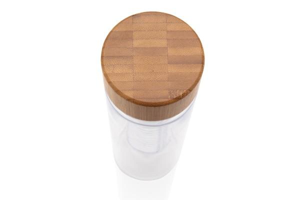 Бутылка-инфьюзер с крышкой из бамбука
