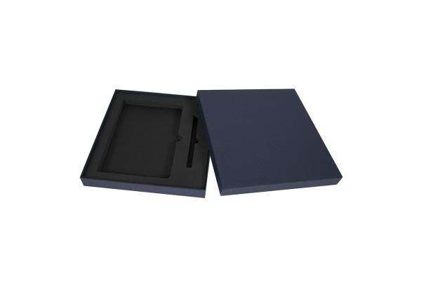 Коробка под ежедневник 130*210 мм и ручку, картон, темно-синий