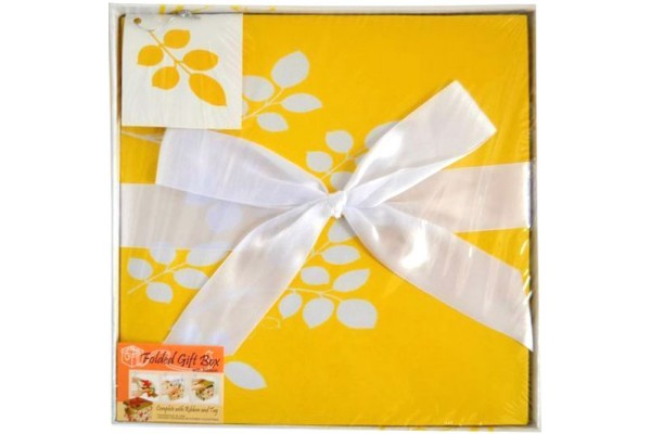 Коробка подарочная раскладная, ЦВЕТОЧНЫЙ УЗОР, 25*25*25 см, картон