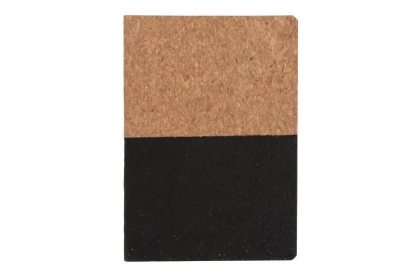 Блокнот в пробковой обложке, черный