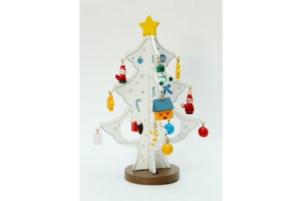Новогоднее деревянное  украшение -26182