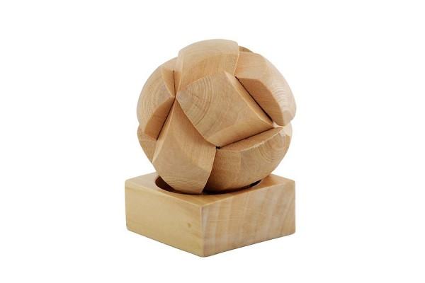 Деревянный пазл в виде мяча (коричневый)