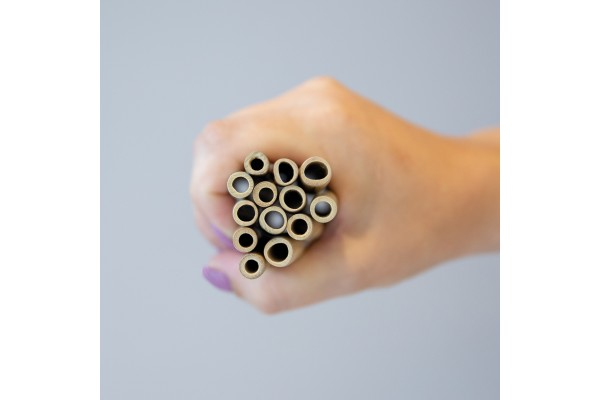 Многоразовые эко-трубочки для напитков Bamboo, набор 2 шт.