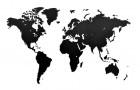 Деревянная карта мира World Map Wall Decoration Medium, черная