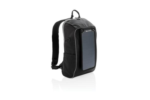 Походный рюкзак с солнечной батареей, черный