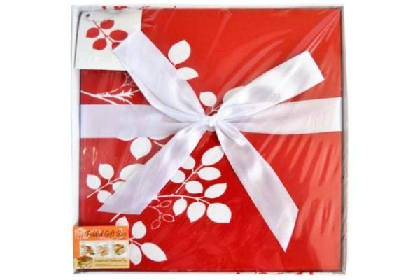 Коробка подарочная раскладная, ЦВЕТОЧНЫЙ УЗОР, 30*30*29 см, картон