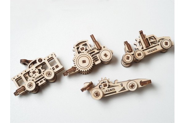3D-ПАЗЛ UGEARS Фиджет Транспорт