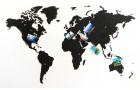 Деревянная карта мира World Map True Puzzle Small, черная
