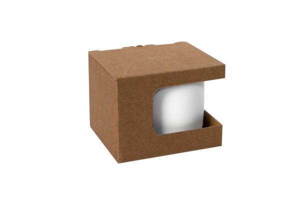 Коробка для кружек 23504, 26701, размер 12,3х10,0х9,2 см, микрогофрокартон, коричневый