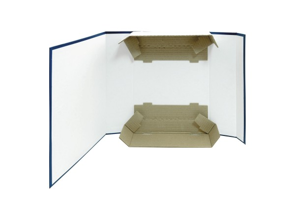 Короб архивный, разборный, бумвинил/картон, на 2-х завязках, 80 мм кор., 330х80х250 мм, ассорти цв., SPONSOR, пакет