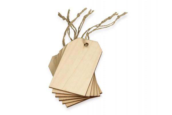 Набор деревянных ярлыков, 5,5 х 9,3 см