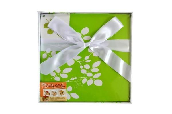 Коробка подарочная раскладная, ЦВЕТОЧНЫЙ УЗОР, 22*22*21 см, картон