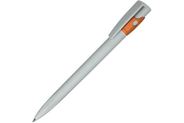 KIKI ECOLINE, ручка шариковая, серый/оранжевый, экопластик