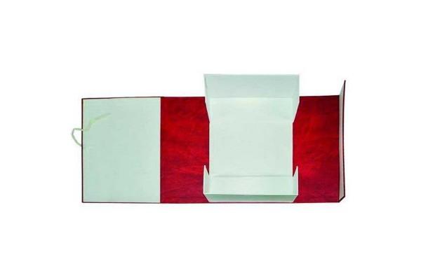 Короб архивный, разборный, бумвинил/картон, на 2-х завязках, 40 мм кор., 320х40х242 мм, красный цв., ИМИДЖ, пакет