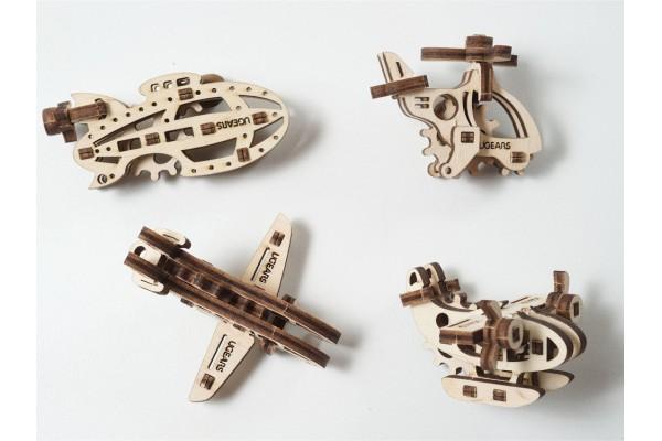 3D-ПАЗЛ UGEARS Фиджет Самолёты