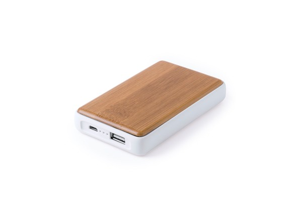 Зарядное устройство HARLEIM (4000mAh), бамбук, пластик