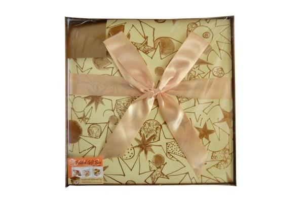 Коробка подарочная раскладная, бежевая, 30*30*30 см, картон