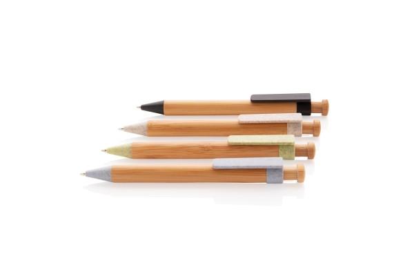 Бамбуковая ручка с клипом из пшеничной соломы
