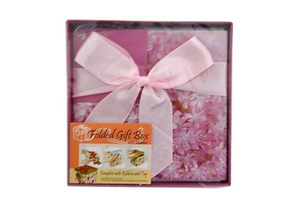 Коробка подарочная раскладная, БУКЕТ, 12*12*12 см, картон