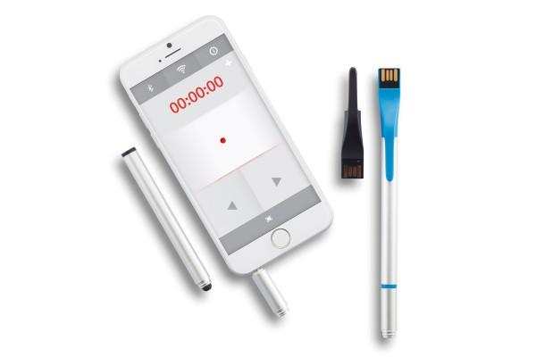 Ручка-стилус Point | 03 с флешкой на 4 ГБ, лазерной указкой и менеджером презентаций., синий