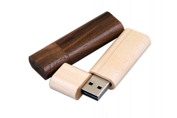 USB 2.0 эко флешка на 32 Гб эргономичной прямоугольной формы с округленными краями белая