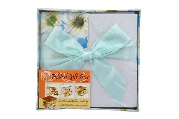 Коробка подарочная раскладная, ЦВЕТЫ, 12*12*12 см, картон