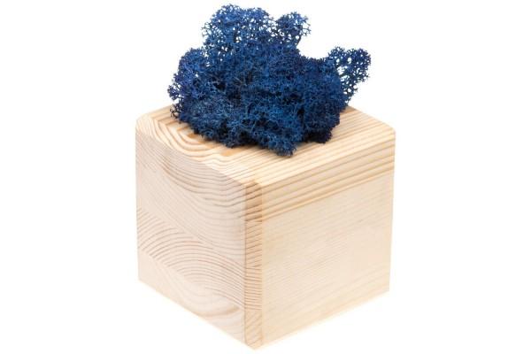 Декоративная композиция GreenBox Wooden Cube, синий